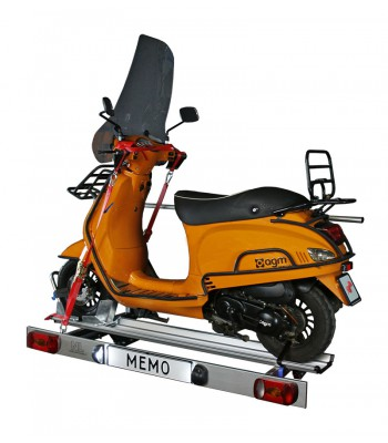 Foldable scooter carrier for motorhome