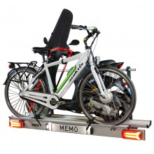 Zorro Scootbike, foldable carrier for one scooter and one (eletric) bicycle