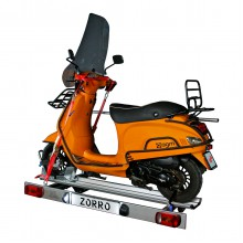 Zorro, foldable scooter carrier for motorhome