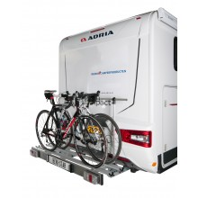 Revo-Star foldable bike carrier with LED lights designed for Adria motorhomes
