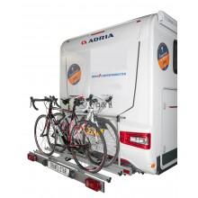 Travel-Star, foldable motorhome bicycle carrier (self-tilting light bar)