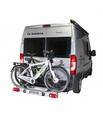 Van-Star Adventure, swing away bike carrier with hinge on the left side