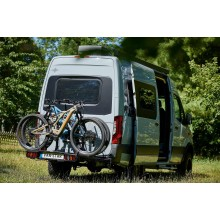 Van-Star E-Cross, swing away bike carrier with hinge on the left side