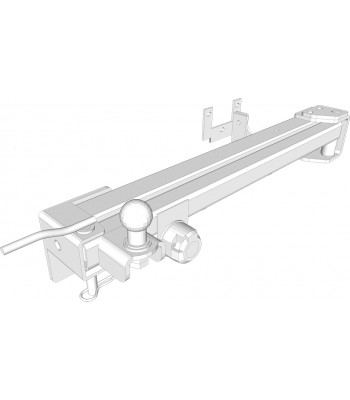 Van-Swing, pivoting towbar module for van conversion (Fiat Ducato X250)