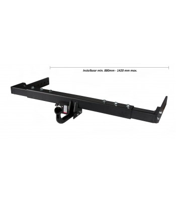 Adjustable motorhome towbar