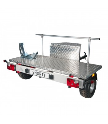 Shorty trailer for motorhomes (model for motorbike)