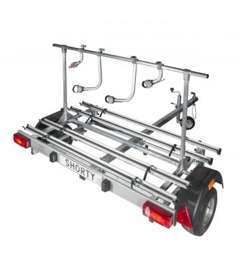 Shorty trailer for motorhomes (model four bikes)